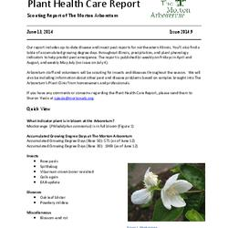 Plant Health Care Report, Issue 2014.9