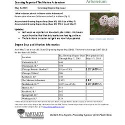 Plant Health Care Report: 2015, May 8 Growing Degree Day issue