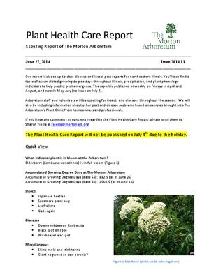 Plant Health Care Report, Issue 2014.11