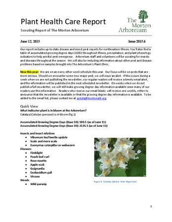 Plant Health Care Report, Issue 2015.6