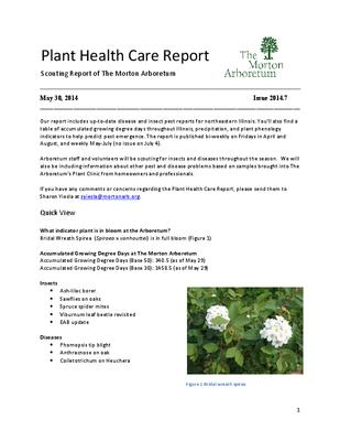 Plant Health Care Report, Issue 2014.7