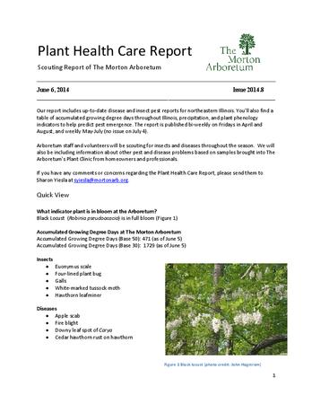 Plant Health Care Report, Issue 2014.8