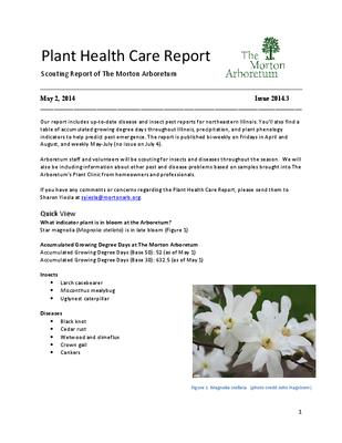 Plant Health Care Report, Issue 2014.3
