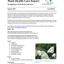 Plant Health Care Report, Issue 2014.15
