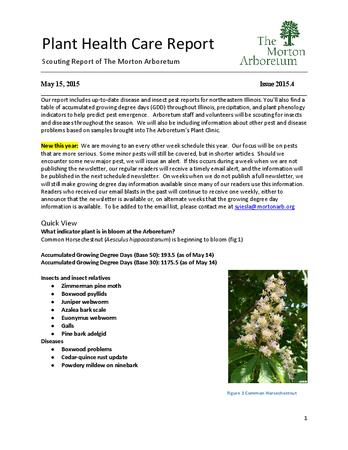 Plant Health Care Report, Issue 2015.4