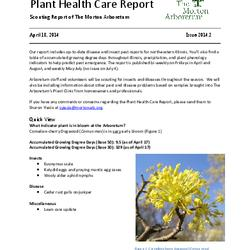 Plant Health Care Report, Issue 2014.2