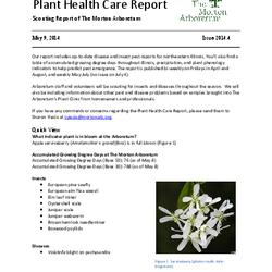 Plant Health Care Report, Issue 2014.4