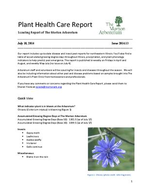 Plant Health Care Report, Issue 2014.13