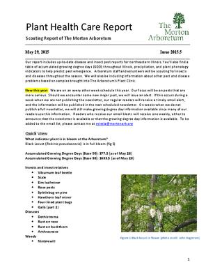 Plant Health Care Report, Issue 2015.5