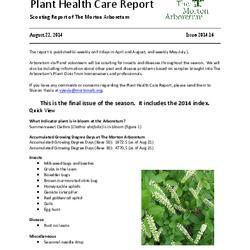 Plant Health Care Report, Issue 2014.16