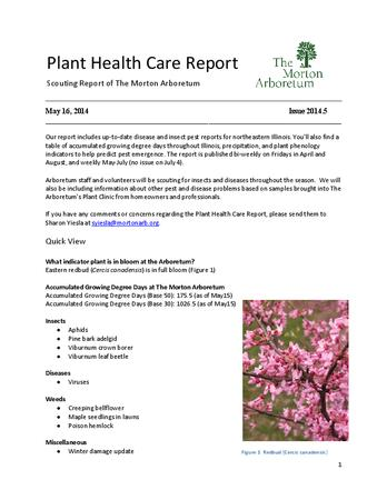 Plant Health Care Report, Issue 2014.5