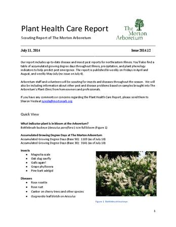 Plant Health Care Report, Issue 2014.12