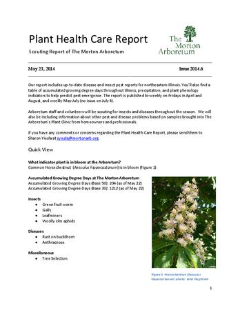 Plant Health Care Report, Issue 2014.6