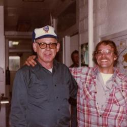 Carpentry department staff, Warren Pottser and Gary Grisko