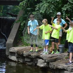 Campers at Summer Science Camp