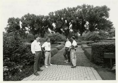 Arboretum staff in Hedge Garden