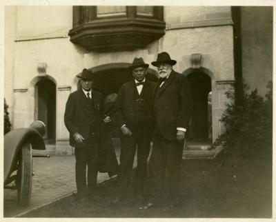 Charles Hutchinson, Joy Morton, Dr. Charles Sprague Sargent at Thornhill