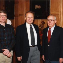 George Ware Retirement Party in Founders Room - (L to R): Peter van der Linden, Tony Tyznik, George Ware