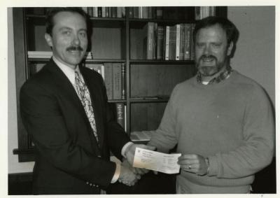 Presentation of $8,000 check to The Morton Arboretum from Chevron Corporation