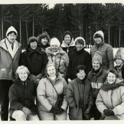 Morton Arboretum Guides/Naturalists outdoors in the snow
