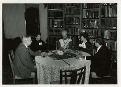 Donors Holiday Tea at the Sterling Morton Library: group seated around table