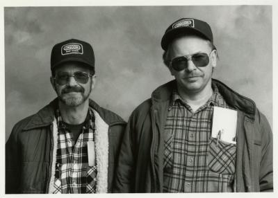 Electrical staff, Dennis Welch and Dennis Liby
