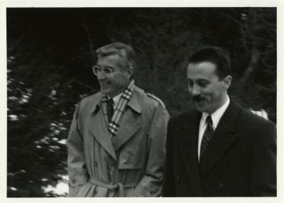 Dr. Gerry Donnelly and Illinois Governor Jim Edgar during visit to The Morton Arboretum