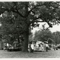 International Society of Arboriculture Tree Trimmers Jamboree, people standing around machinery
