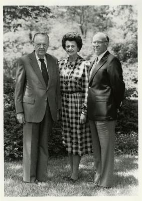 Illinois Governor William G. Stratton and Mrs. Stratton with Dr. Marion Hall during visit to The Morton Arboretum