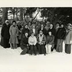 Morton Arboretum TEA Guides (Teaching Environmental Awareness) outside in the snow