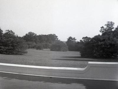 Morton residence south lawn from swimming pool