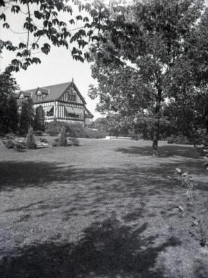 Partial view of Morton residence from south lawn