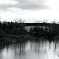 Looking south across Sterling Pond from Cricket Hill. Road on right becomes Evergreen Drive.