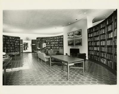Sterling Morton Library main reading room looking west