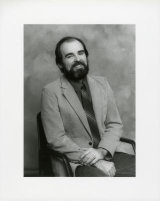 Anthony Byrne, seated portrait