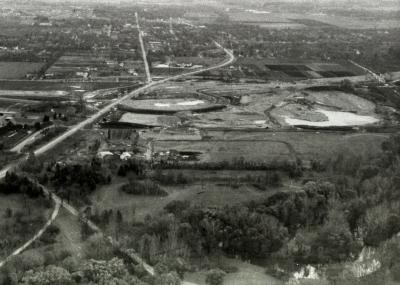 Arbor Lake construction, aerial view