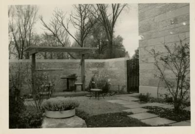 May T. Watts Reading Garden, south side