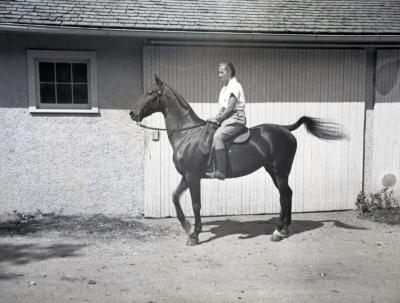 Sterling Morton horse Diana and female rider