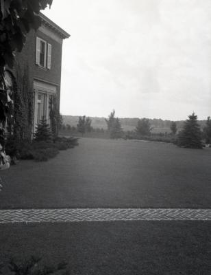 Brick path and corner view of Mark Morton residence