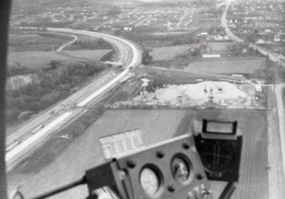 East/West Tollway and Arbor Lake construction, aerial view