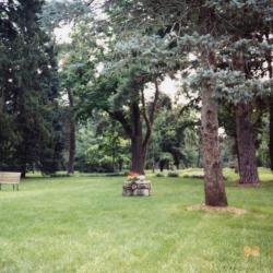 Arbor Lodge State Historical Park and Mansion, Lawn And Trees With Bench