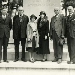 Mortons at J. Sterling Morton Monument in Nebraska City