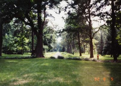 Arbor Lodge State Historical Park and Mansion, Lawn and Trees