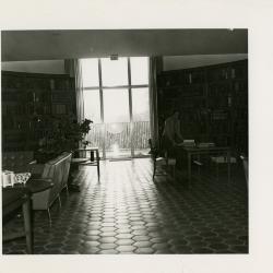 Viola Sobolik in the Sterling Morton Library Main Reading Room