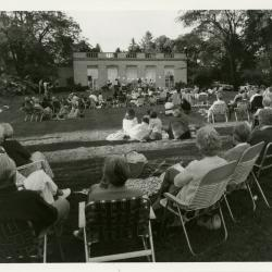 Music at the Arboretum, audience watching jazz concert on Thornhill lawn