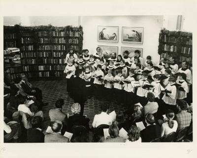 St. Luke's (Evanston) choir Christmas concert in the Sterling Morton Library