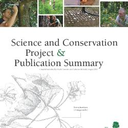 Science and Conservation Project and Publication Summary