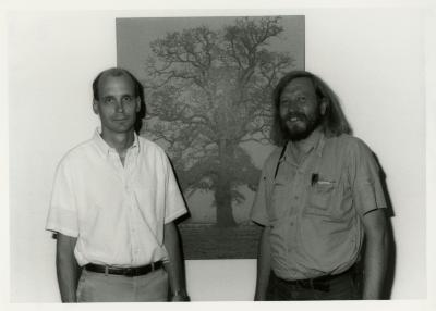 Gary Watson (left) with Jitzke Kopinga, Urban Tree Root Specialist from Research Institute of Forestry and Urban Ecology (Wageningen, Netherlands)