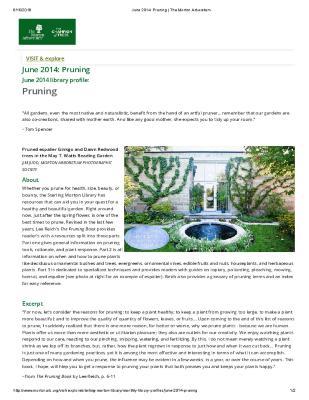 June 2014: Pruning