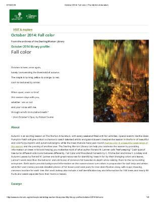 October 2014: Fall color